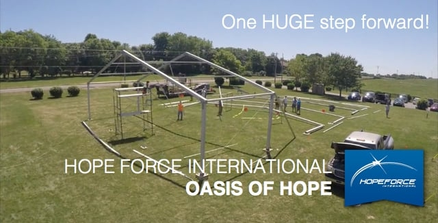 Oasis of Hope in time lapse